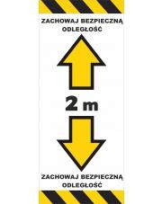 Naklejka zachowaj odstęp (25 cm x 60 cm)