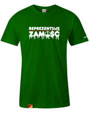 T-shirt męski Reprezentuję Zamość