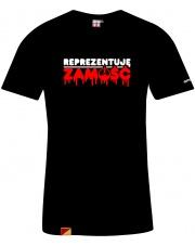 T-shirt męski Reprezentuję Zamość Black