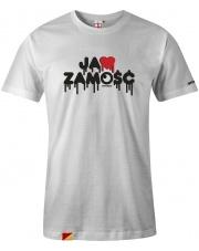 T-shirt męski Ja ❤️ Zamość White