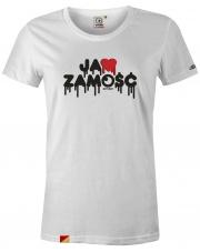 T-shirt damski Ja ❤️ Zamość White