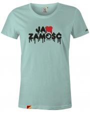 T-shirt damski Ja ❤️ Zamość Mint Green